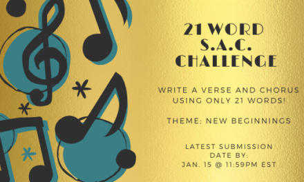 Think You Can Write A Verse & Chorus Using Only 21 Words? Try The 21 Word S.A.C. Challenge!